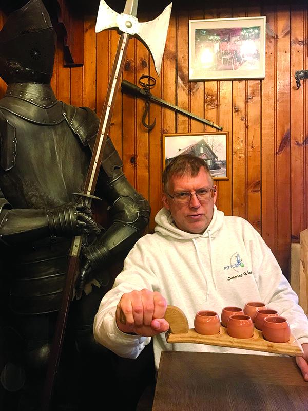 Mead tasting in Trakai.