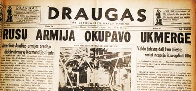 Russian army occupies Ukmergė. July 26, 1944