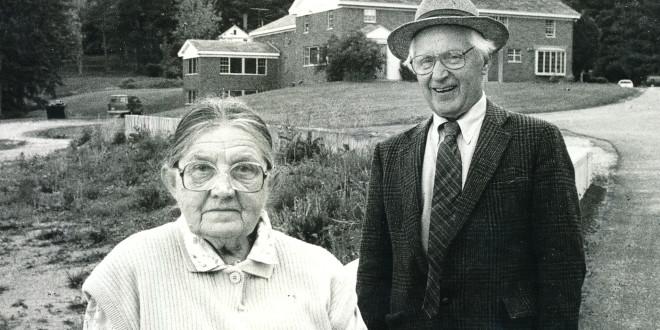 Liudas Dovydėnas su žmona Elena, 1988.