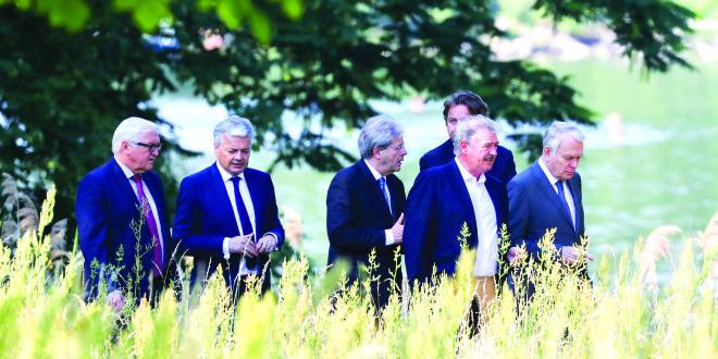 EU ministrai.