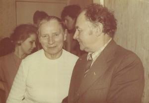 M. Kalvaitytė ir P. Pečiulaitis, 1987 m.