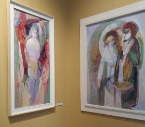Jubiliejinės dailininko Antano Lipskio parodos ekspozicija Žemaičių dailės muziejuje.