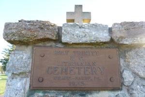 Wilkes Barre lietuvių kapinių įėjimo užrašas.