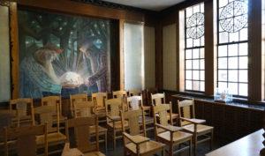 Vargo mokykla Pittsburgho universiteto Mokymosi katedroje – lietuvių tautinis kambarys.