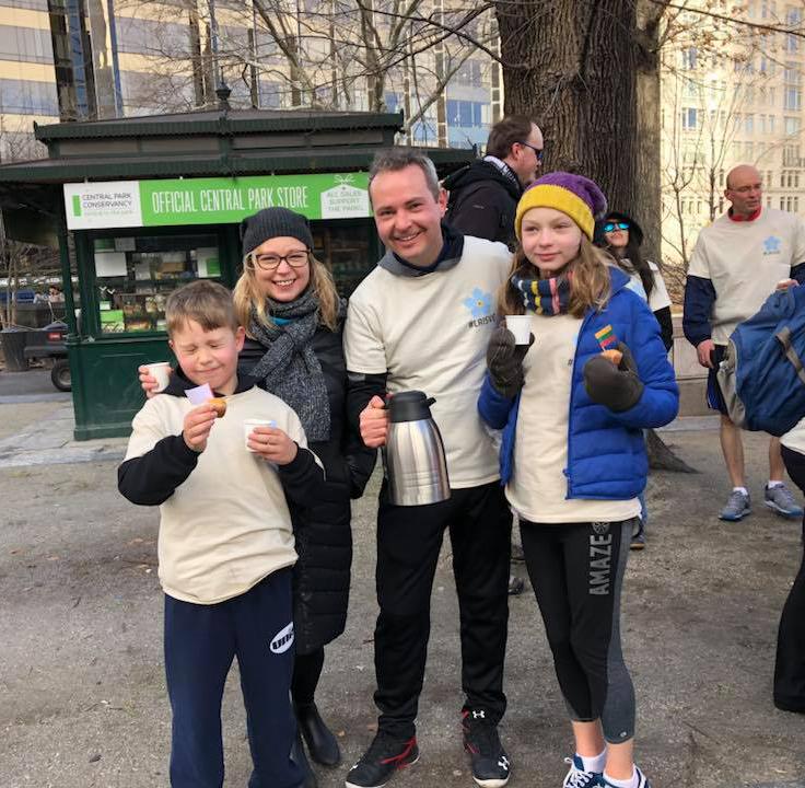 New Yorko Centriniame parke vykusiame Sausio 13-osios bėgime Julius Pranevičius dalyvavo su šeima.