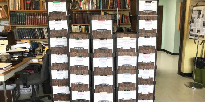 35 dėžės – tokio dydžio yra LTSC perduotas Reginos Narušienės archyvas.