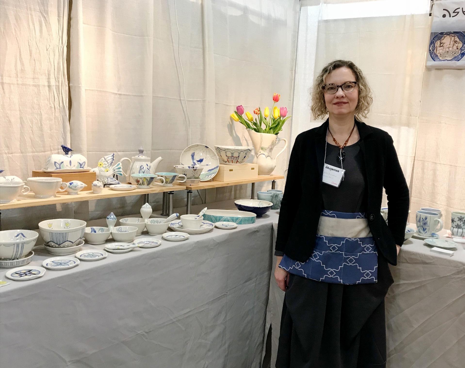 Asta Bublienė parodoje 2018 m. kovo mėn. Craft Morristown.