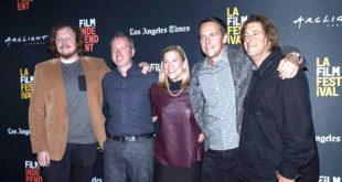 Iš k.: scenaristas Ben York Jones, prodiuseris Žilvinas Naujokas, rašytoja Rūta Šepetys, režisierius Marius Markevičius ir prodiuseris Jonathan Schwartz.