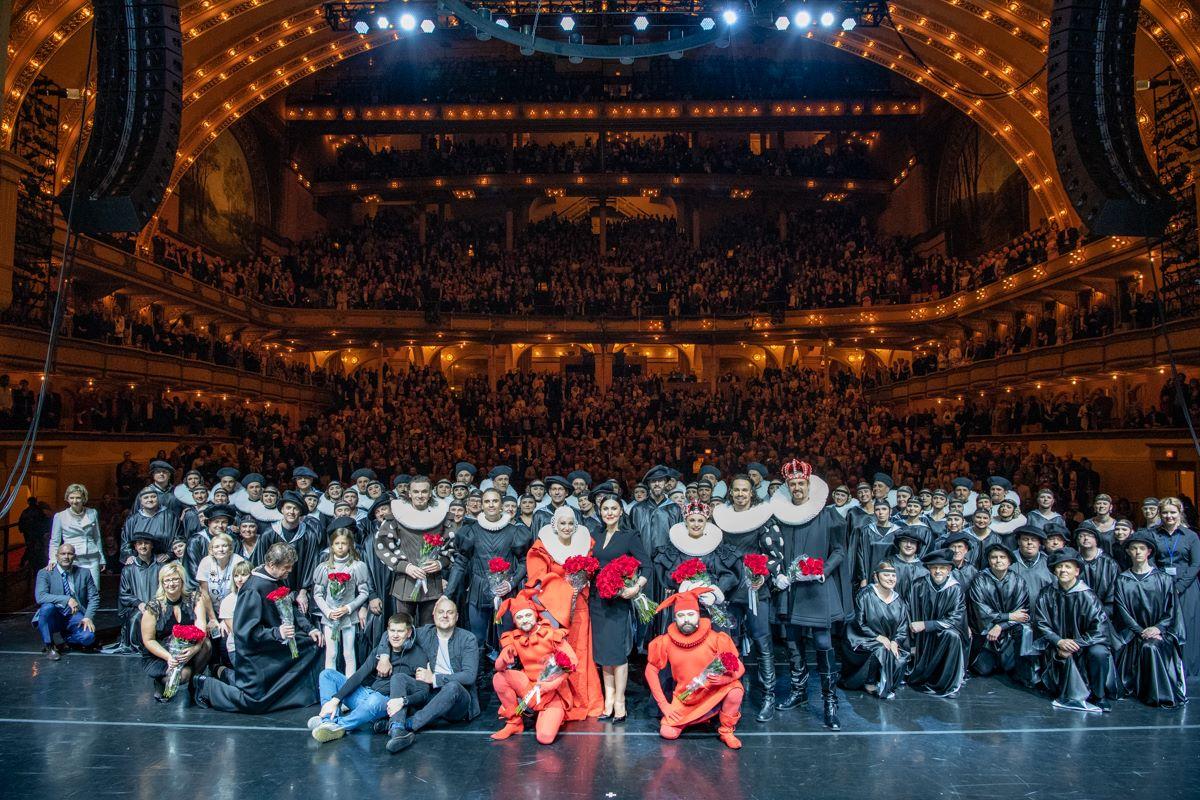 Didingo istorinio miuziklo dalyviai ir žiūrovai visi nesutilpo į vieną nuotrauką.