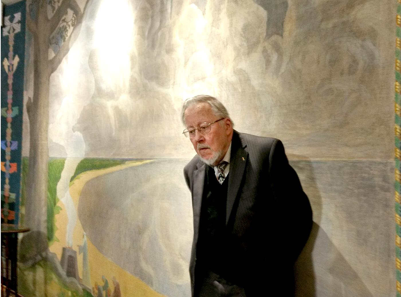Prisiminimais apie dailininką dalijosi prof. Vytautas Landsbergis.