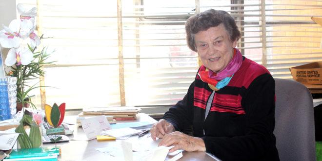 Marija Remienė savo darbo vietoje.