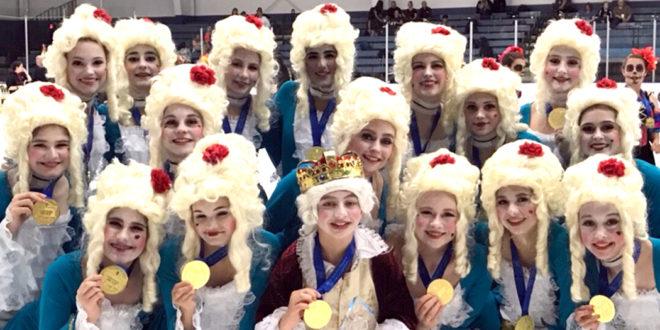 """""""Theater on Ice Nationals 2018"""". Urtė – antroje eilėje antra iš dešinės."""