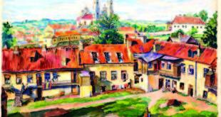 Rafaelis Chvolesas (1913–2002). Vilniaus priemiestis su Misionierių bažnyčia. 1948 m.
