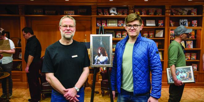 Vytautas Vasiliauskas (d.) su David Cleden.